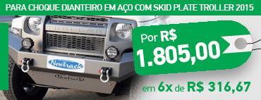 KPara choque Dianteiro Novo Troller com skidplate